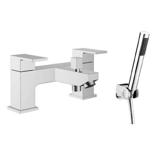 Cubix Chrome Bath Shower Mixer & Shower Kit