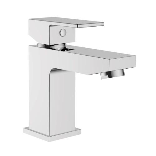 Cubix Chrome Basin Mono Mixer & Slotted Sprung Basin Waste