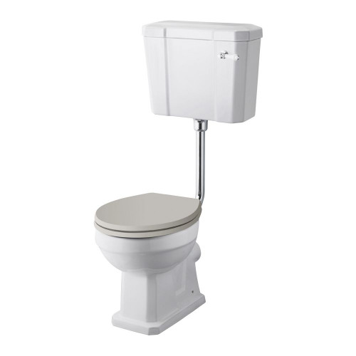 Old London Richmond Comfort Height Low Level WC & Flush Pipe