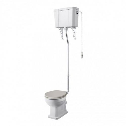 Old London Richmond Comfort High Level WC Pan, Cistern & Flush Pipe Kit