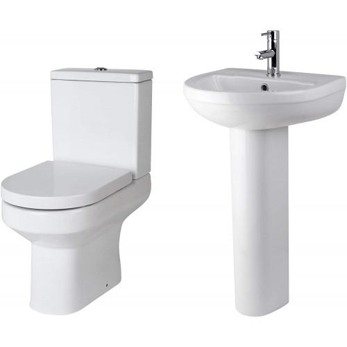 Harmony Toilet & Basin Bathroom Suite - 1 Tap Hole