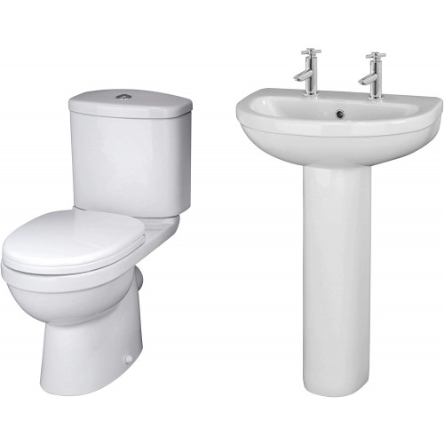 Ivo Toilet & Basin Bathroom Suite - 2 Tap Hole