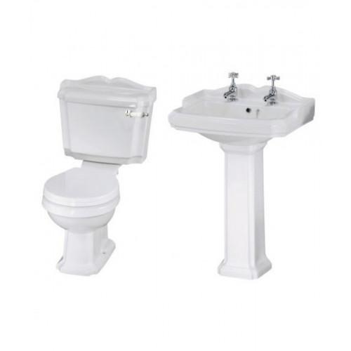 Legend Toilet & Basin Bathroom Suite - 2 Tap Hole