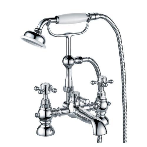 Clyde Chrome Bath Shower Mixer & Shower Kit