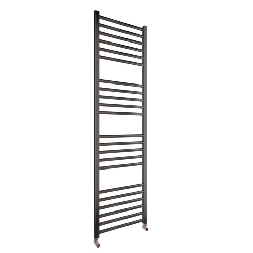 Cosy 500mm x 1600mm Anthracite Flat Heated Towel Rail