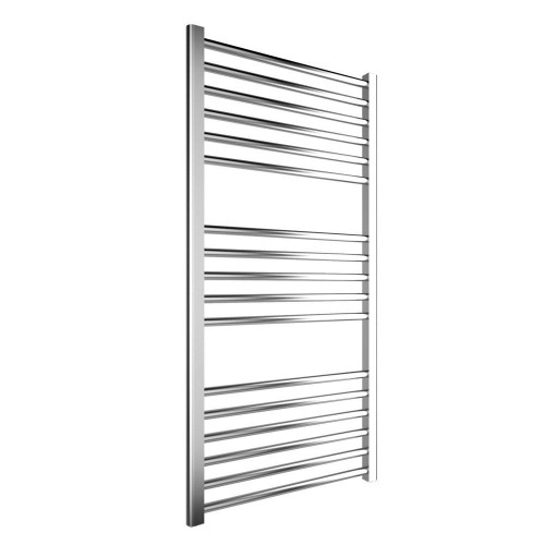 Cosy 600mm x 1200mm Chrome Curved Heated Towel Rail