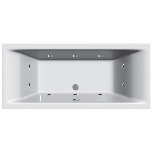 Cube 10 Jet Whirlpool Spa 1800mm x 800mm Double Ended Bath