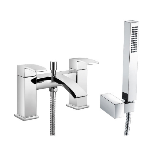 Diamanti Chrome Bath Shower Mixer & Shower Kit