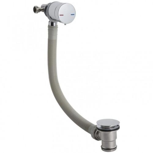 Chrome Single Lever Freeflow Bath Filler