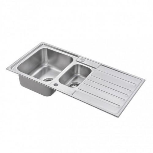 Scott & James 1.5 Bowl Reversible Stainless Steel Sink - Single Drainer