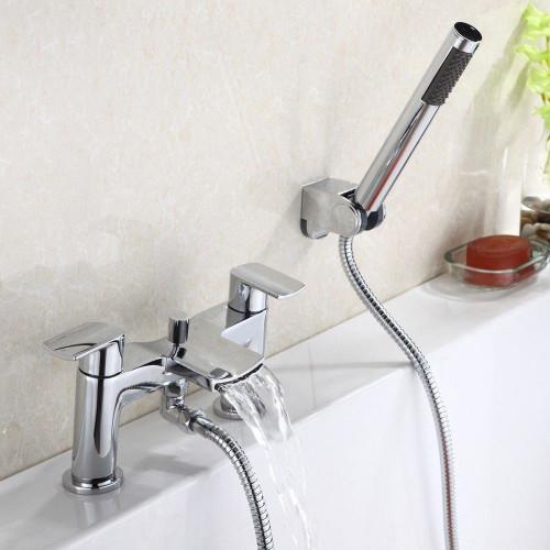 Glide Chrome Bath Shower Mixer & Shower Kit