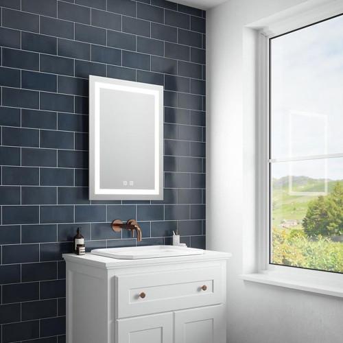 Valentino LED Illuminated Bathroom Mirror with Demister 500mm x 700mm