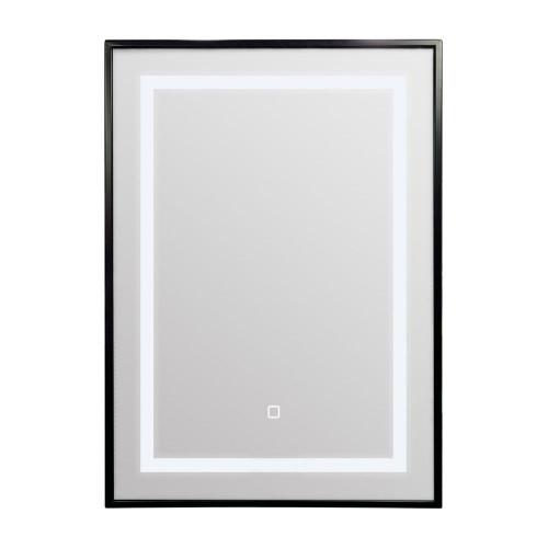 Palermo Black Frame LED Illuminated Bathroom Mirror 500mm x 700mm
