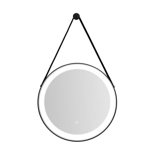 Florence Black Frame LED Illuminated Bathroom Mirror 600mm Diameter