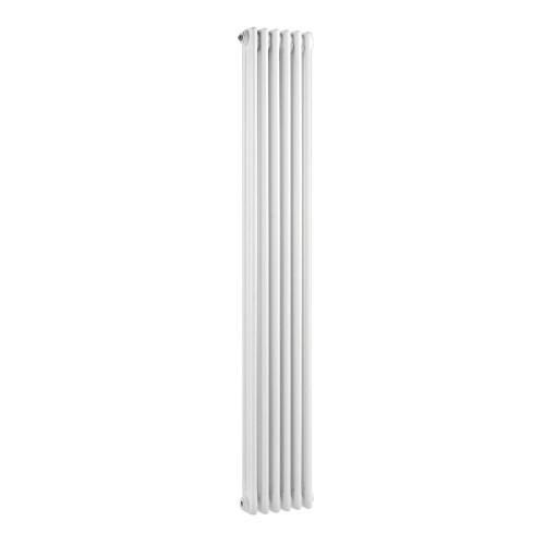 Traditional Triple Column White 6 Panel Radiator 290mm x 1500mm