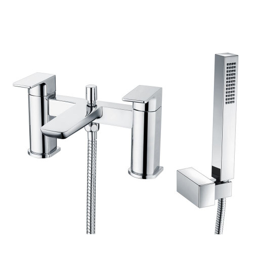 Hydro Chrome Deck Mounted Bath Shower Mixer & Shower Kit
