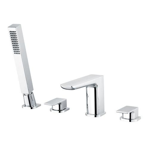 Hydro Chrome 4 Tap Hole Deck Mounted Bath Shower Mixer