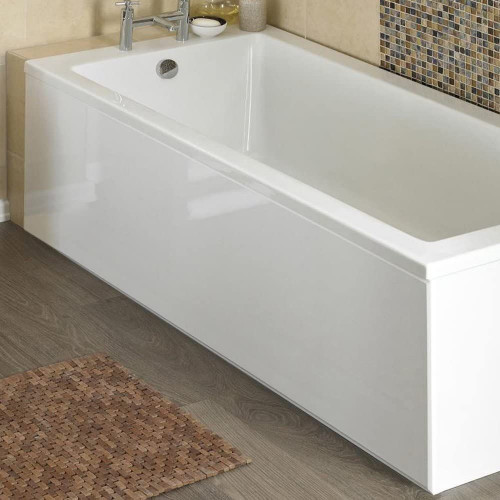 ICE 1800mm White Gloss 1 Piece Bath Front Panel