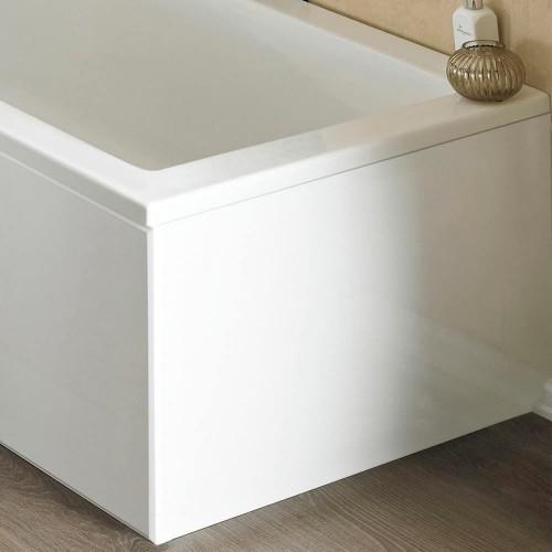 ICE 800mm White Gloss 1 Piece Bath End Panel