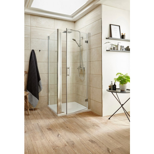 Pacific 760mm Hinged Door Square Enclosure Package with Tray & Waste