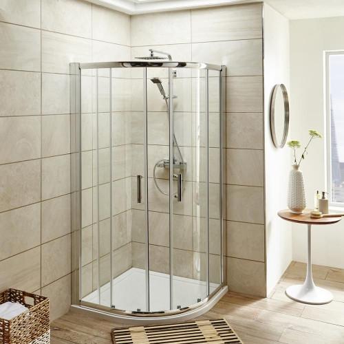 Pacific 900mm Quadrant Shower Enclosure, Tray & Waste