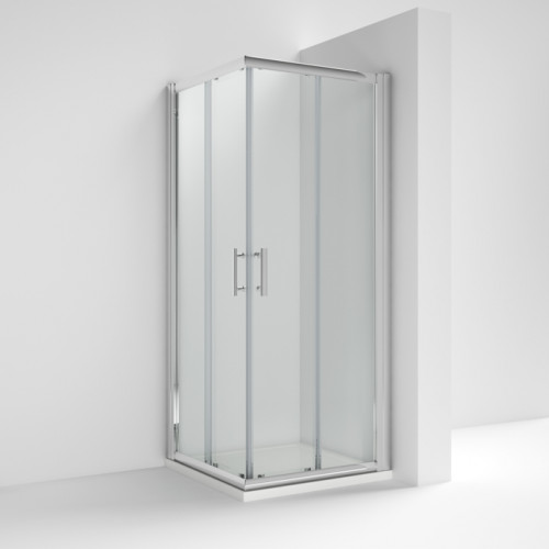 Pacific 900mm Corner Entry Enclosure Package With Tray & Waste