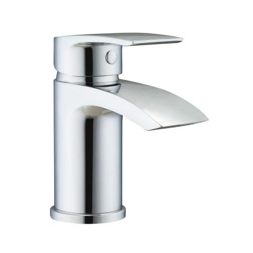 Khloe Chrome Mini Basin Mono Mixer & Slotted Sprung Basin Waste