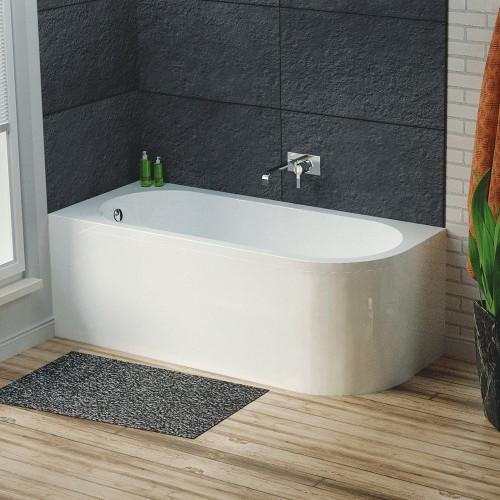 Larne 1700mm x 725mm Corner Bath & Panel - Left Hand