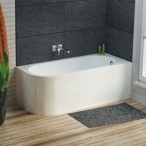 Larne 1700mm x 725mm Corner Bath & Panel - Right Hand