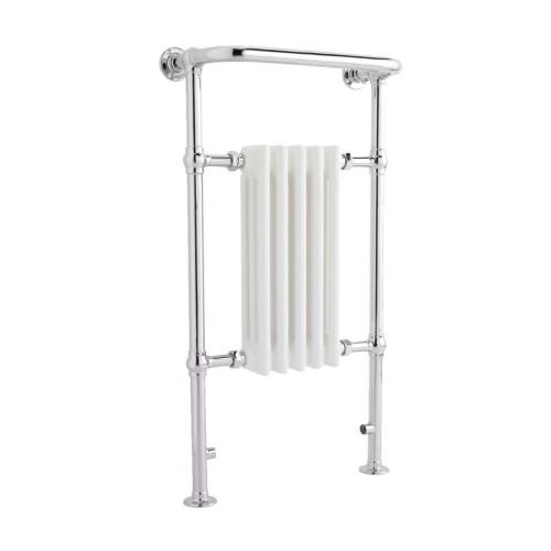 Mayfair Traditional White & Chrome Heated Towel Rail Radiator