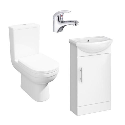Lifestyle Toilet, Sienna Vanity Unit & Tap Package