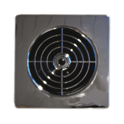 """Manrose 4"""" Low Profile Chrome Extractor Fan with Timer"""