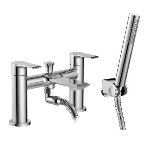 Lucerne Chrome Deck Mounted Bath Shower Mixer & Shower Kit