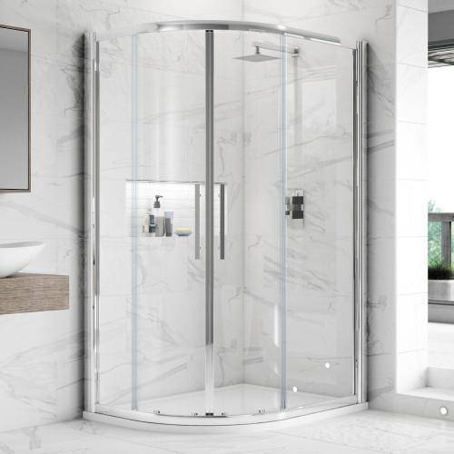 Hudson Reed Apex Chrome 1000mm x 800mm Offset Quadrant Shower Enclosure - Enclosure Only