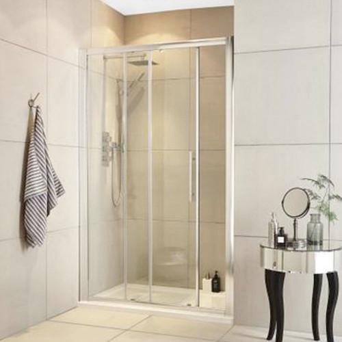 Hudson Reed Apex Chrome 1400mm Single Sliding Shower Door