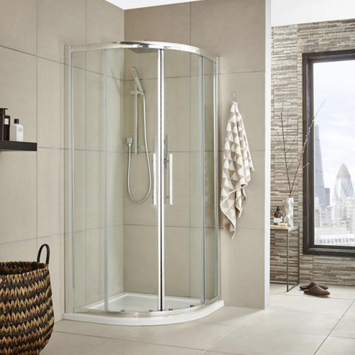Hudson Reed Apex Chrome 800mm Quadrant Shower Enclosure - Enclosure Only