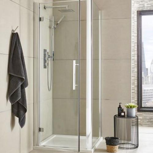 Hudson Reed Apex Chrome 800mm Shower Side Panel
