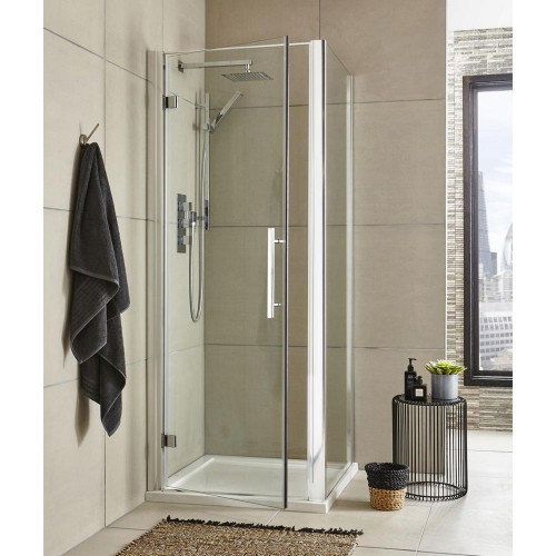 Apex 900mm Hinged Door Square Enclosure Package With Tray & Waste