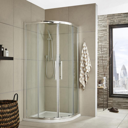 Apex 900mm Quadrant Shower Enclosure, Tray & Waste
