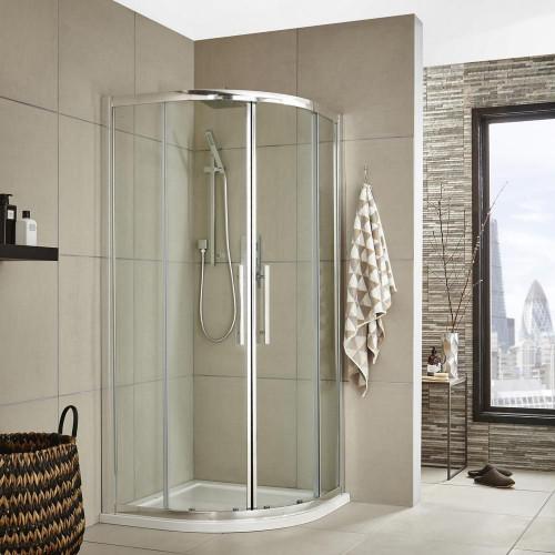 Apex 1000mm Quadrant Shower Enclosure, Tray & Waste