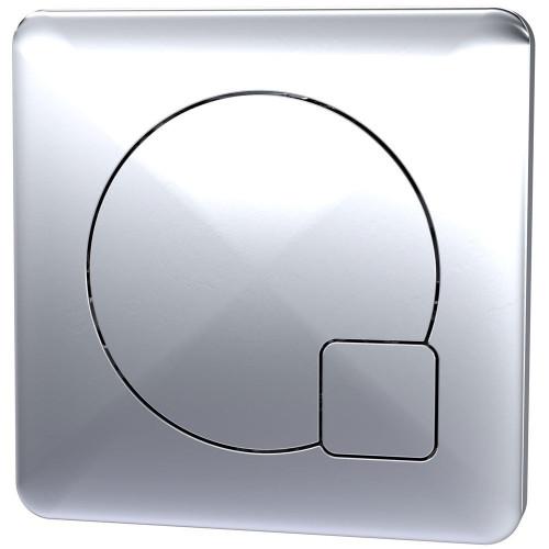 Square Dual Flush Push Button To Suit XTY006 - Chrome