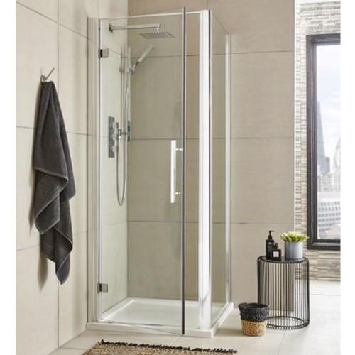 Hudson Reed Apex Chrome 800mm Hinged Shower Door