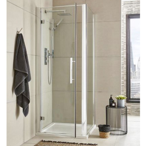 Hudson Reed Apex Chrome 900mm Hinged Shower Door