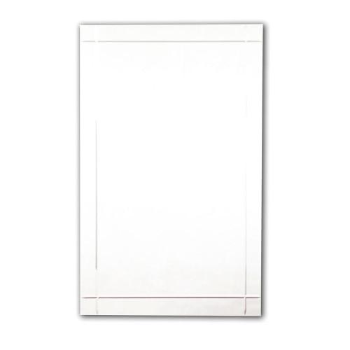 Rectangular Mirror with Crystal Cut Design 450mm x 650mm