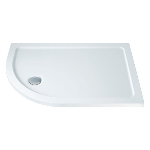 MX Low Profile 1200mm x 900mm Offset Quadrant Shower Tray & Waste - Left Hand