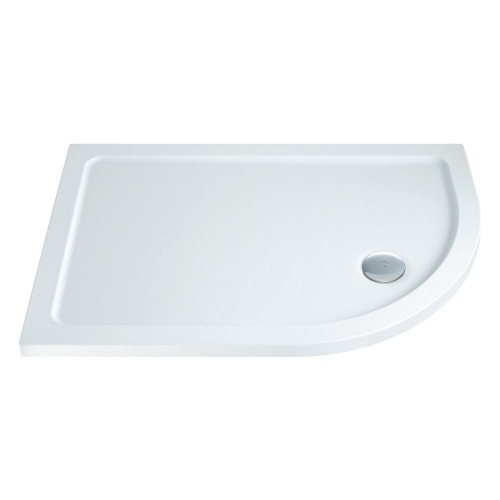 MX Low Profile 900mm x 760mm Offset Quadrant Shower Tray & Waste - Right Hand