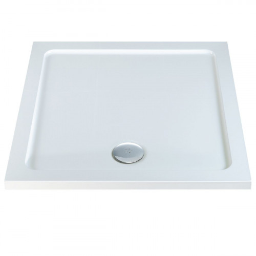 MX Low Profile 800mm x 800mm Square Shower Tray & Waste