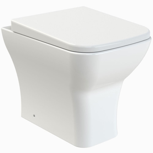 Ava Rimless Back To Wall Pan & Soft Close Seat