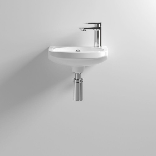 350mm Square Wall Hung Basin - 1 Tap Hole