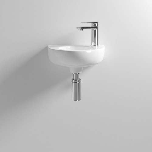 350mm Round Wall Hung Basin - 1 Tap Hole